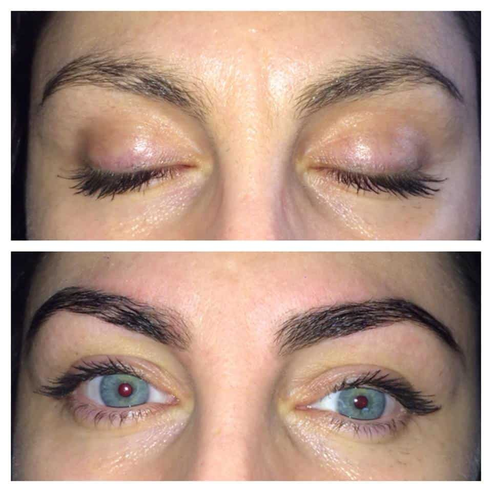Before and after cosmetic eyebrow tattoo melbourne for Cosmetic eyebrow tattoo